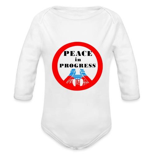 Peace in Progress - Ekologiczne body niemowlęce z długim rękawem