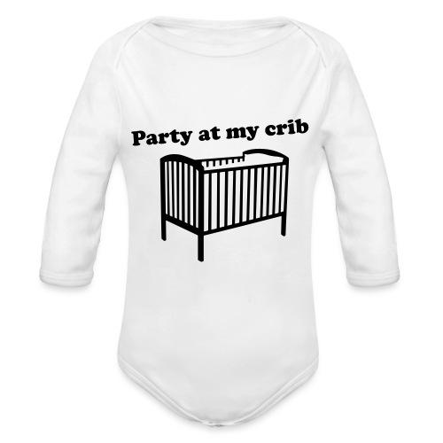 Party At My Crib - Organic Longsleeve Baby Bodysuit