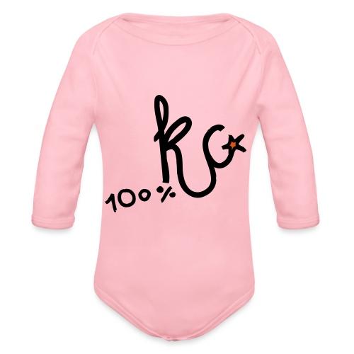 100%KC - Baby bio-rompertje met lange mouwen