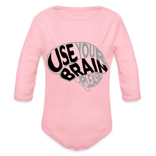 Use your brain - Body ecologico per neonato a manica lunga