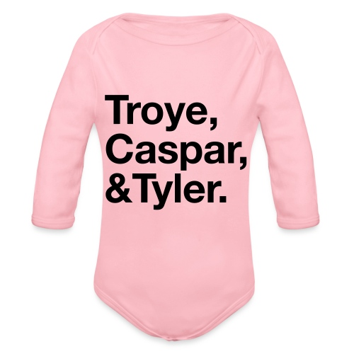TROYE CASPAR AND TYLER - YOUTUBERS - Body ecologico per neonato a manica lunga