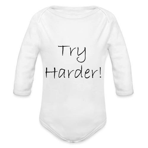 Try_Harder_B - Ekologisk långärmad babybody