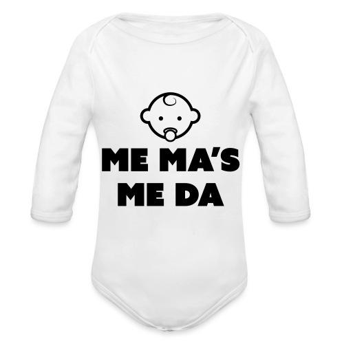 Me Ma's Me Da - Organic Longsleeve Baby Bodysuit