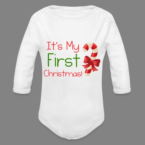 firstchristmas - Organic Longsleeve Baby Bodysuit