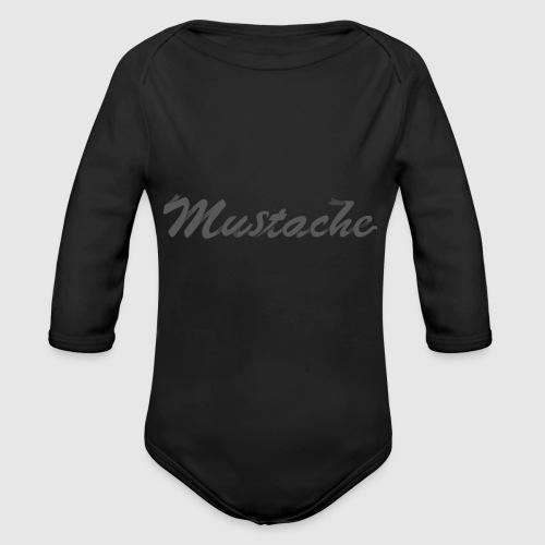 Black Lettering - Organic Longsleeve Baby Bodysuit