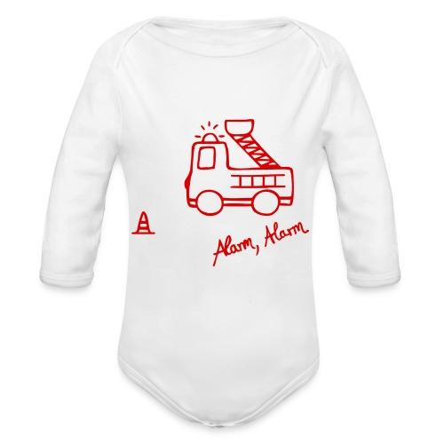 Feuerwehrauto 112 - Baby Bio-Langarm-Body
