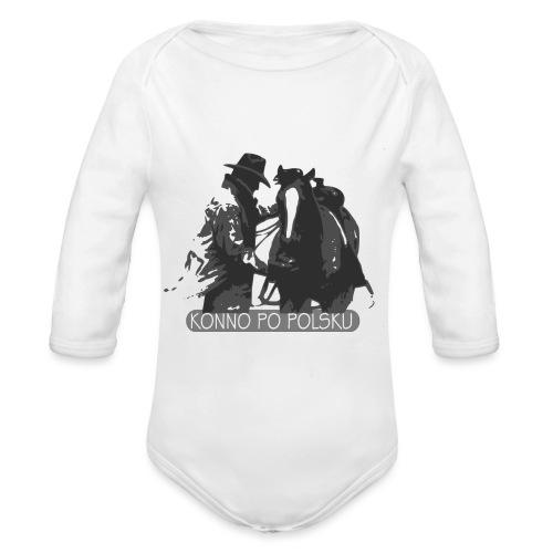 horse2 - Ekologiczne body niemowlęce z długim rękawem