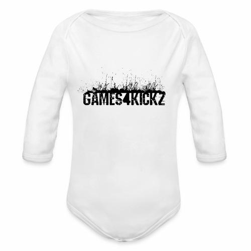 Games4Kickz Logo 002 - Organic Longsleeve Baby Bodysuit