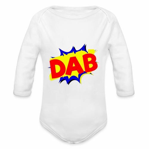 Dab fumetto logo - Body ecologico per neonato a manica lunga