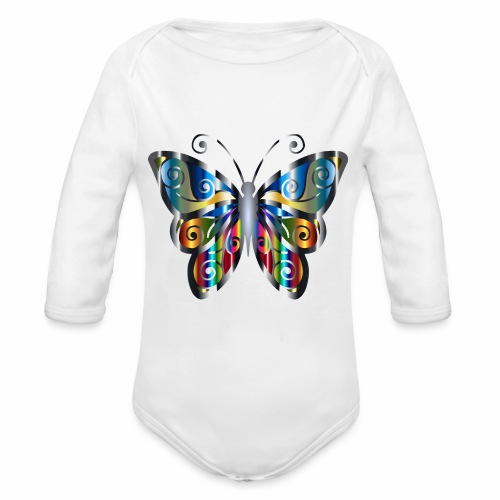 butterfly - Ekologiczne body niemowlęce z długim rękawem