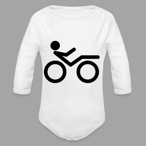 Recumbent bike black 2 - Vauvan pitkähihainen luomu-body