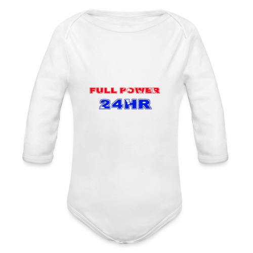 Full Power 24 HR - Organic Longsleeve Baby Bodysuit
