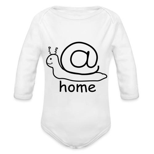 at home schnecke - Baby Bio-Langarm-Body