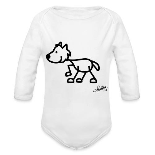 wolf - Baby Bio-Langarm-Body