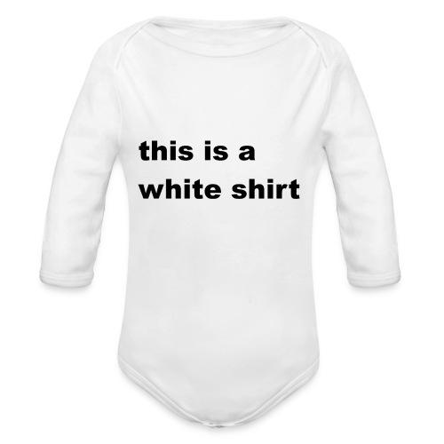 White shirt - Baby Bio-Langarm-Body