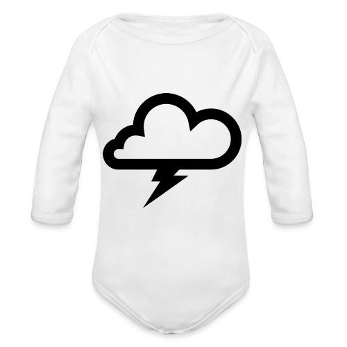 Wolke mit Blitz - Baby Bio-Langarm-Body