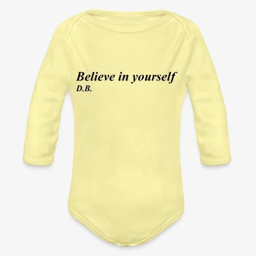 Credi in te stesso - Body ecologico per neonato a manica lunga