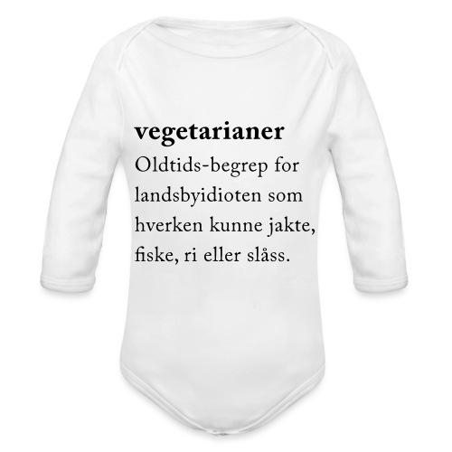 Vegetarianer definisjon - Økologisk langermet baby-body