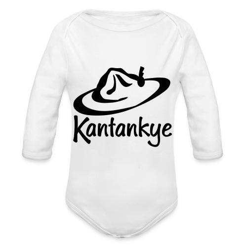logo hoed naam - Baby bio-rompertje met lange mouwen