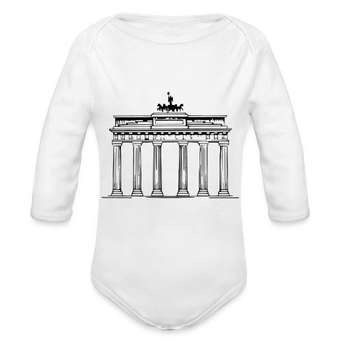 Brandenburger Tor Berlin Victoria Streitwagen - Baby Bio-Langarm-Body