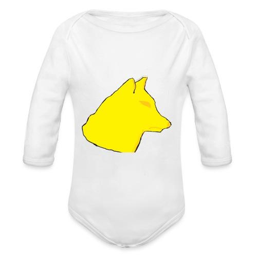 wolfes - Langærmet babybody, økologisk bomuld