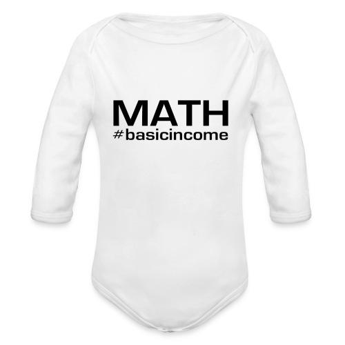 math-black - Baby bio-rompertje met lange mouwen