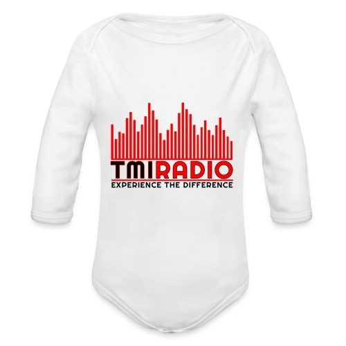 NEW TMI LOGO RED AND BLACK 2000 - Organic Longsleeve Baby Bodysuit
