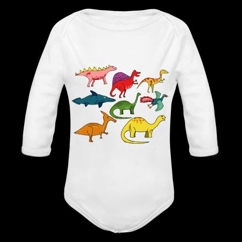 Dinos - Baby Bio-Langarm-Body