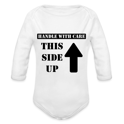 Handle with care / This side up - PrintShirt.at - Baby Bio-Langarm-Body
