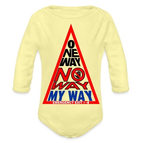 No way - Body ecologico per neonato a manica lunga