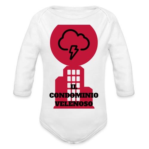 il condominio velenoso - Body ecologico per neonato a manica lunga