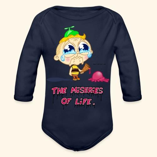 The Miseries of Life Eiscreme Eis Kind - Baby Bio-Langarm-Body