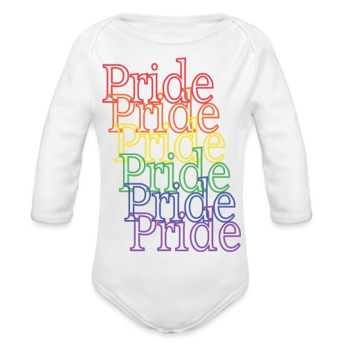 Pride | Regenbogen | LGBT - Baby Bio-Langarm-Body