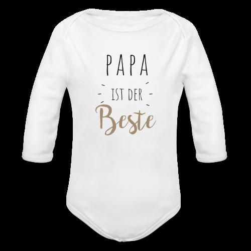 Papa ist der beste - Baby Bio-Langarm-Body