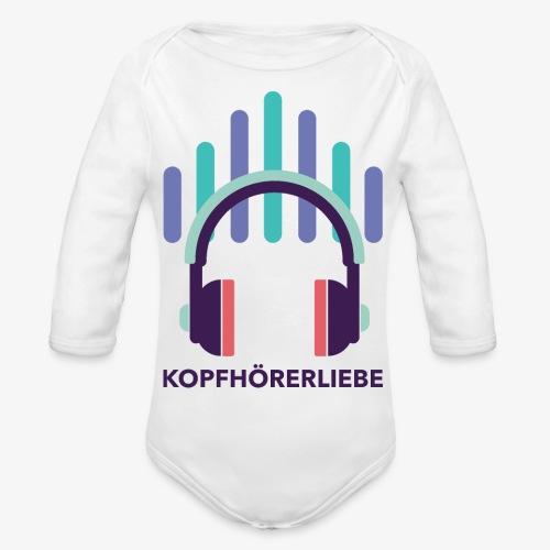 kopfhörerliebe - Baby Bio-Langarm-Body