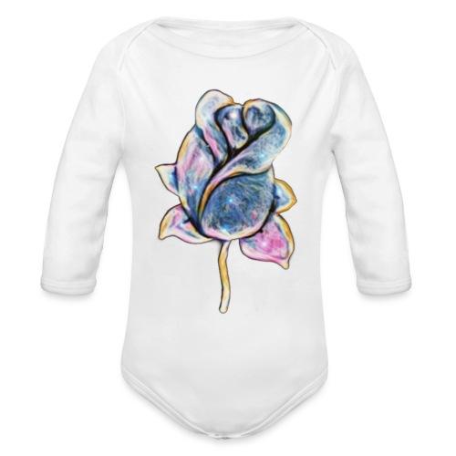Fiore - Body ecologico per neonato a manica lunga