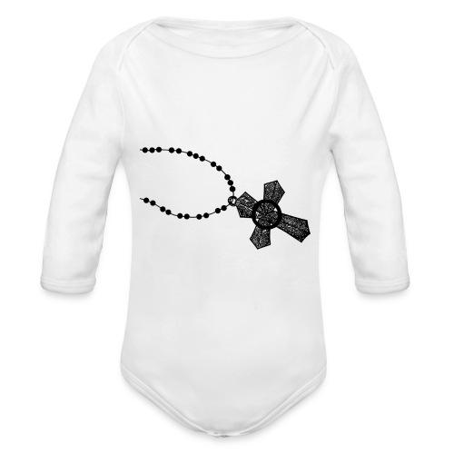 kruis 2 png - Baby bio-rompertje met lange mouwen