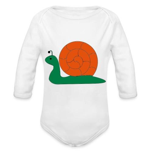 Die Schnecke, die Schnecke - Baby Bio-Langarm-Body