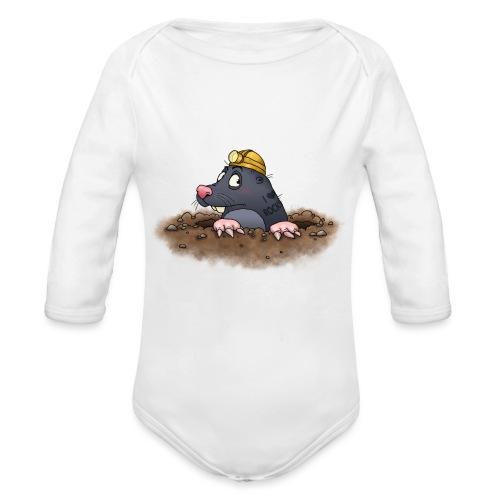 Maulwurf - Baby Bio-Langarm-Body