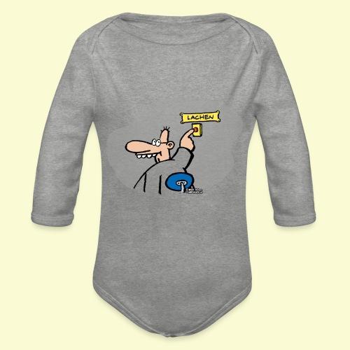 DIRKJAN Lachen - Baby bio-rompertje met lange mouwen