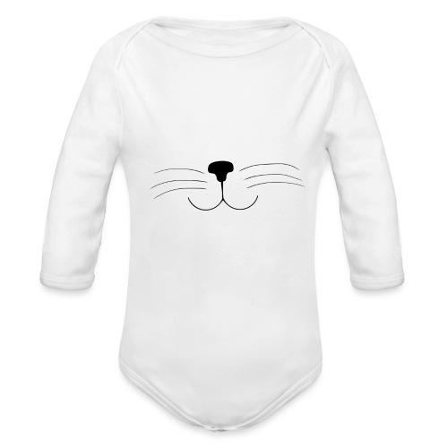 Kat | Mannen T-shirt - Baby bio-rompertje met lange mouwen