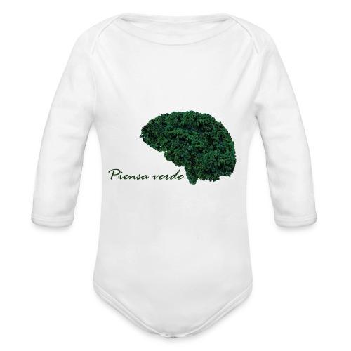 Piensa verde - Body orgánico de manga larga para bebé