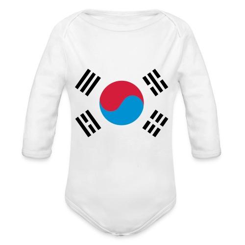 South Korea - Baby bio-rompertje met lange mouwen