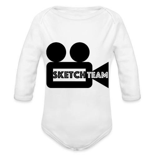 SketchTeam Logga T-shirt - Ekologisk långärmad babybody