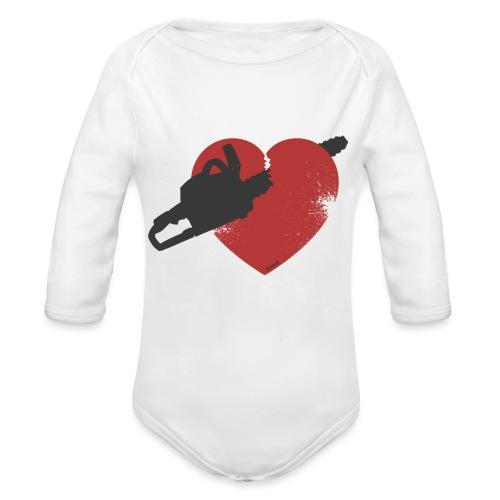 Coeur brisé (H) - Body Bébé bio manches longues