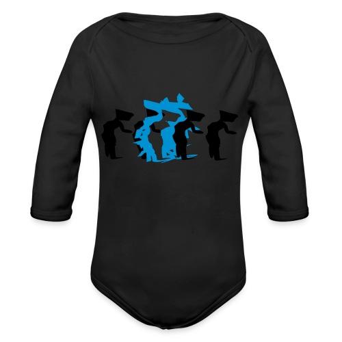 through - Organic Longsleeve Baby Bodysuit