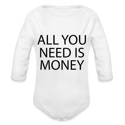 All you need is Money - Økologisk langermet baby-body