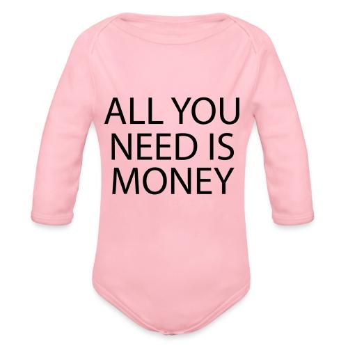 All you need is Money - Økologisk langermet baby-body