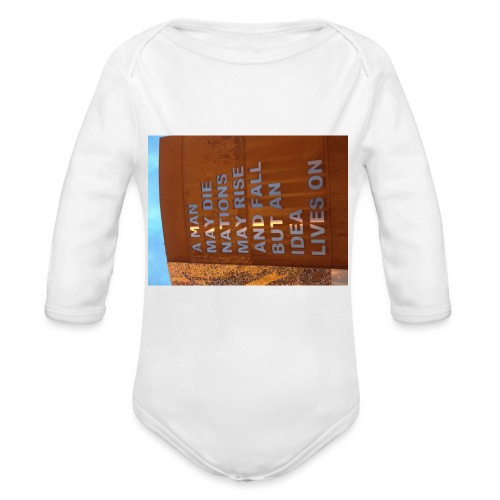 An Idea Lives On - Organic Longsleeve Baby Bodysuit