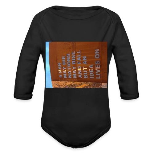 An Idea Lives On - Organic Longsleeve Baby Bodysuit